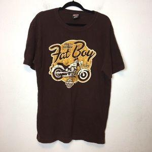 Harley Davidson Brown Fat Boy T Shirt